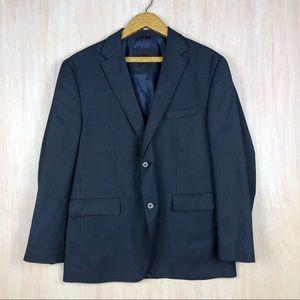 Hugo Boss Blue Navy Wool Blend Blazer Jacket 42R